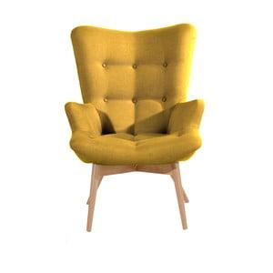 Žluté křeslo Max Winzer Arne