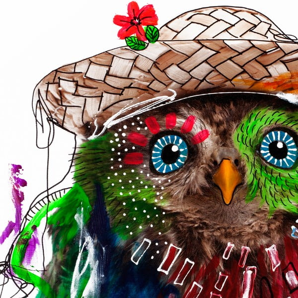 Hector Owl, 70x70 cm