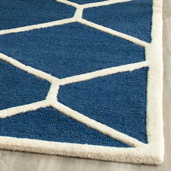Vlněný koberec Safavieh Lulu, 152x243 cm, modrý