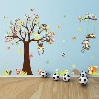 Set autocolante Ambiance Cute Monkeys Playing On Trees