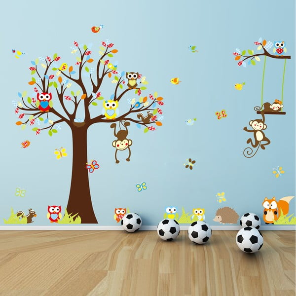 Cute Monkeys Playing On Trees falmatrica szett - Ambiance