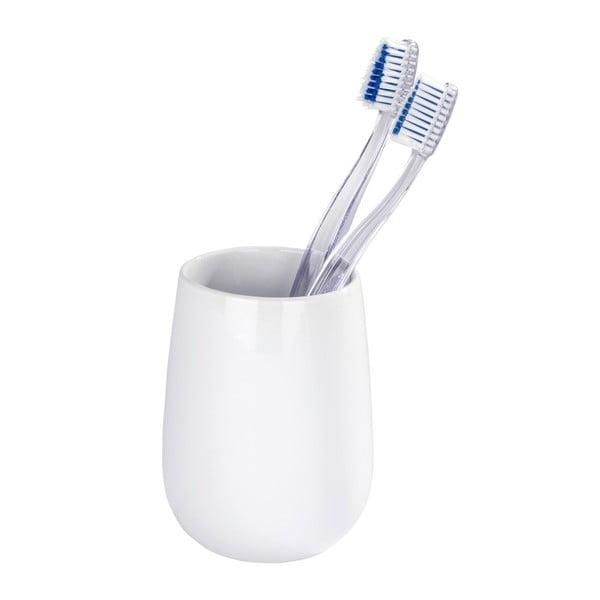Malta fehér kerámia fogkefetartó pohár - Wenko