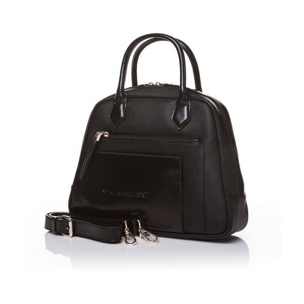 Kožená kabelka do ruky Marta Ponti Handy, černá
