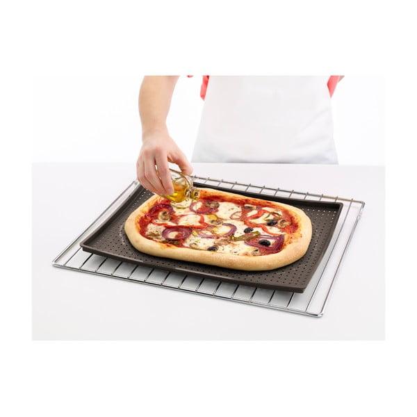 Hnědá silikonová podložka na pizzu Lékué Pizza