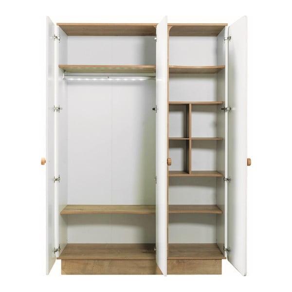 Bílá šatní skříň Nature Baby 3 Doors Wardrobe
