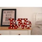 Dekorativní světlo Carnival Love, červené