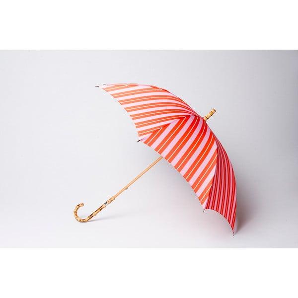 Deštník Stripe, oranžovo-růžový