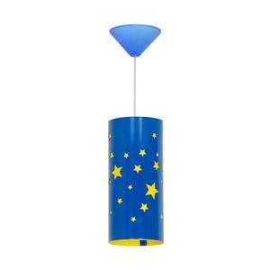Modré závěsné svítidlo Glimte Stars Small