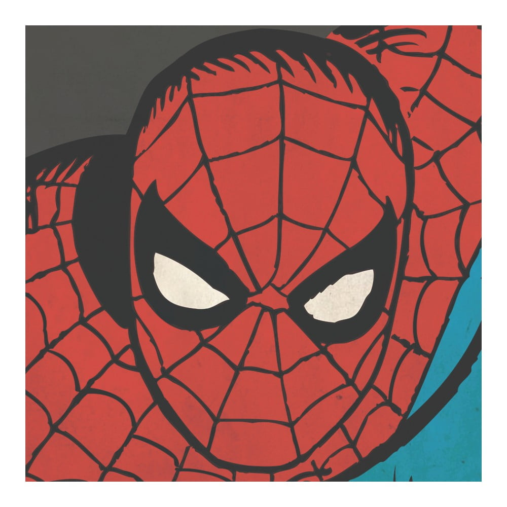 Obraz Pyramid International Marvel Comics Spider-Man Close-Up, 40 x 40 cm
