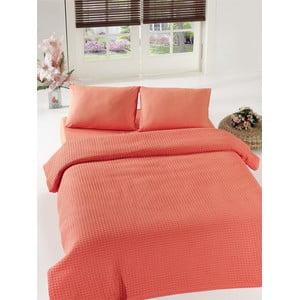 Cuvertură de pat Coral Pique, 200 x 240 cm, portocaliu