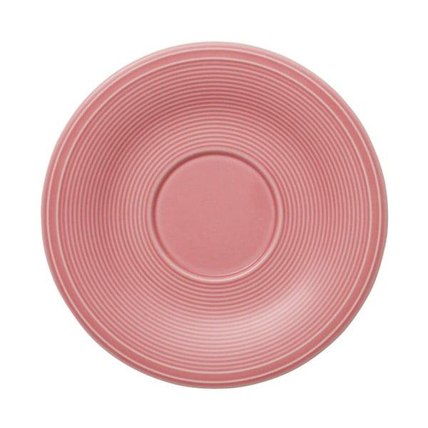 Rózsaszín porcelán csészealj, 15,5 cm - Like by Villeroy & Boch Group