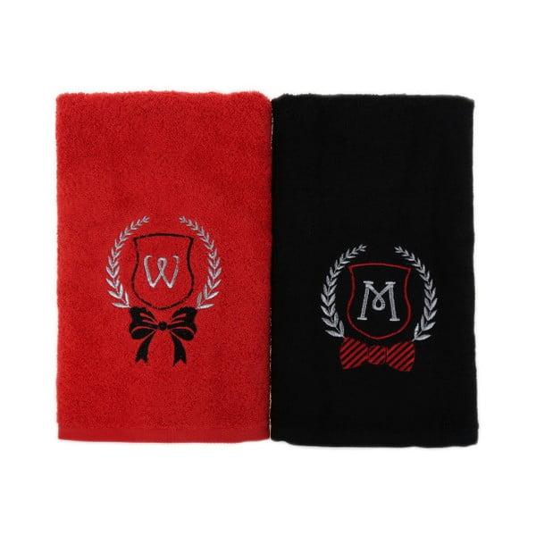 Zestaw 2 ręczników W&M, 50x90 cm