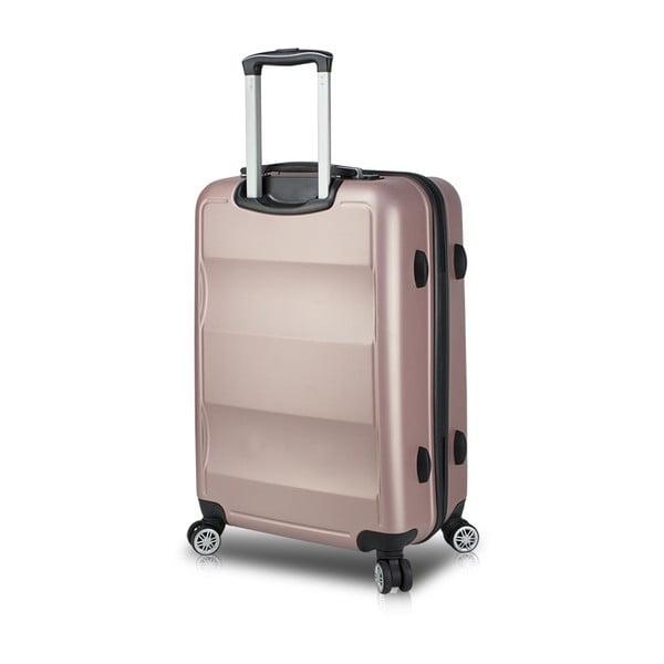 Valiză cu roți și port USB My Valice COLORS LASSO Pilot, roz