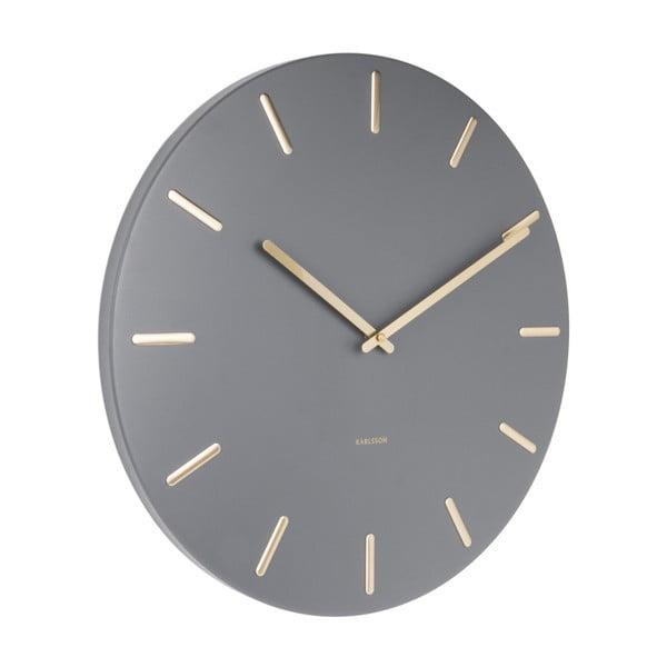 Šedé nástěnné hodiny Karlsson Charm
