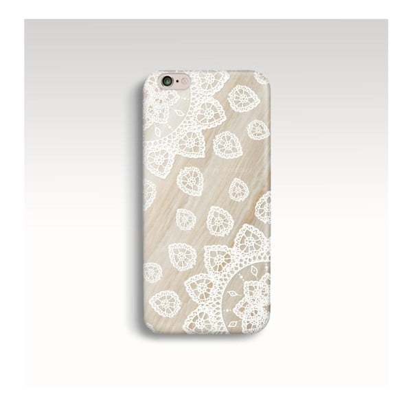 Obal na telefon Wood Mandala White pro iPhone 5/5S