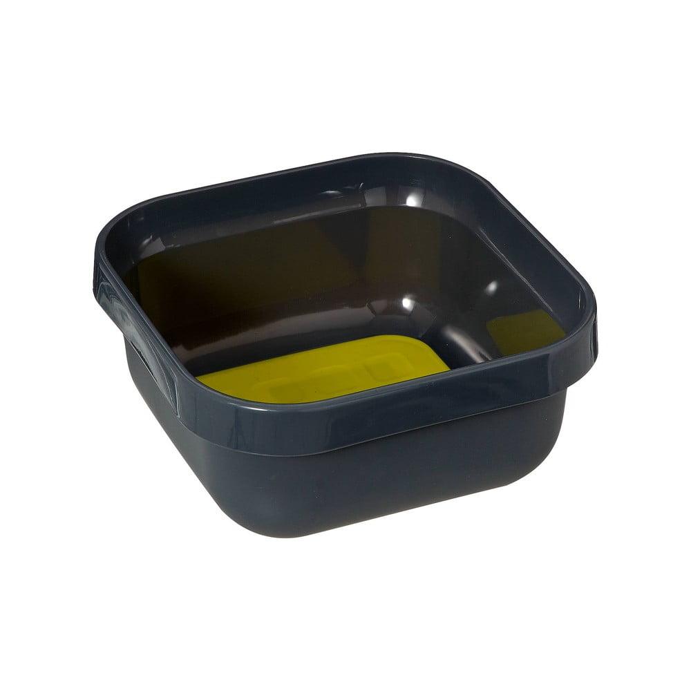 Černý plastový lavor na mytí nádobí Addis, 34 x 34 x 15,5 cm