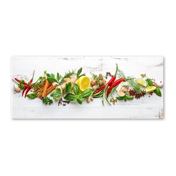 Obraz Styler Glasspik Shabby Herbs, 30 × 80 cm