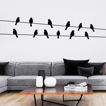 Autocolant Ambiance Birds on the Wire