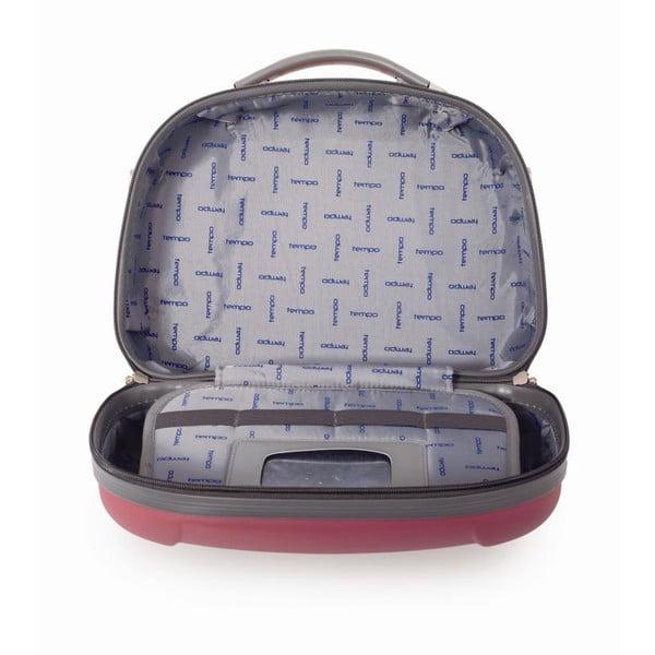 Sytě růžový cestovní kosmetický kufřík Tempo