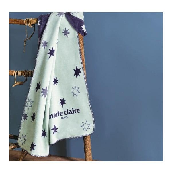 Niebieski koc z kolekcji Marie Claire Noyal, 130x170 cm