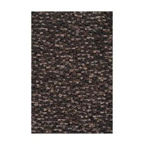 Vlněný koberec Crush, 70x70 cm, šedý
