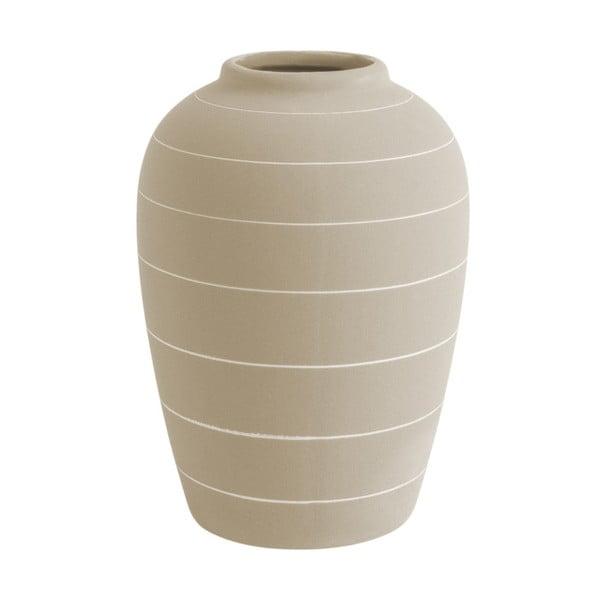 Vază din ceramică PT LIVING Terra, ⌀ 13 cm, alb crem
