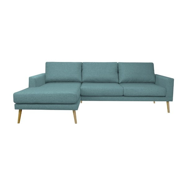 Modrá rohová pohovka Windsor & Co Sofas Vega, levý roh
