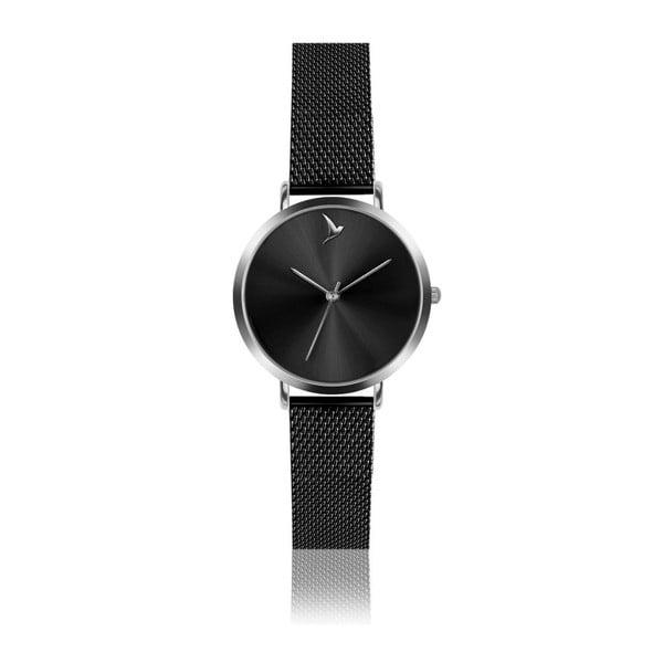 Dámske hodinky s čiernym remienkom z antikoro ocele Emily Westwood Black