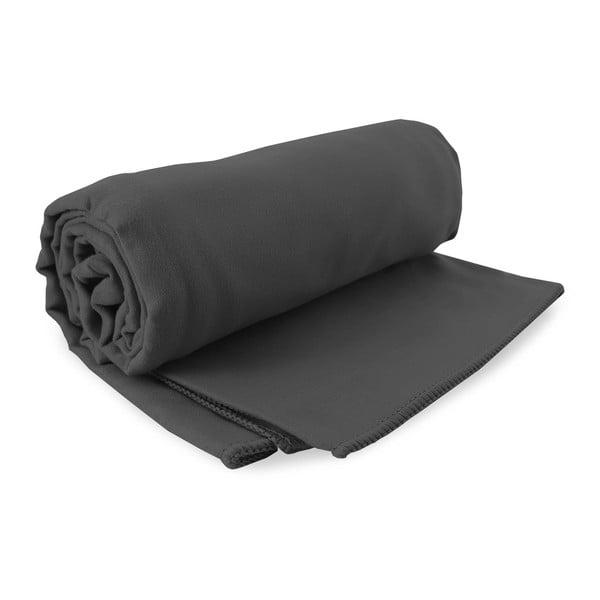Set tmavě šedé rychleschnoucí osušky a ručníku DecoKing EKEA, 70 x 140 cm + 30 x 50 cm