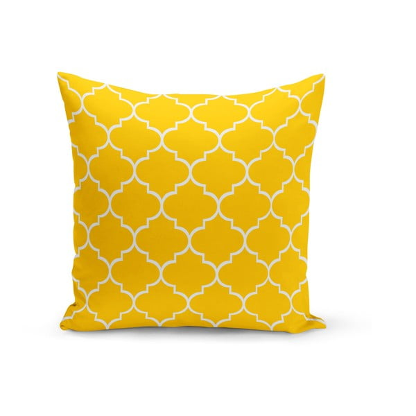 Jane sárga díszpárna, 43 x 43 cm