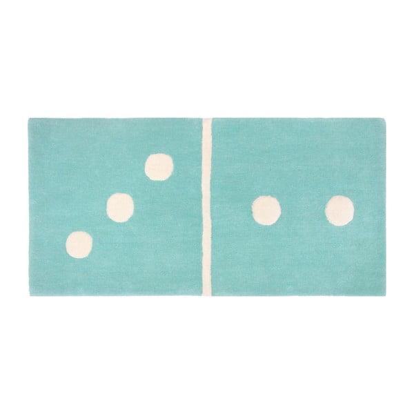 Covor pentru copii Nattiot Domino, 60 x 120 cm, albastru