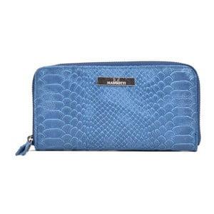 Modré kožené psaníčko Mangotti Bags Zuna