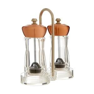 Set râșnițe pentru sare și piper cu suport Premier Housewares Mill, arămiu