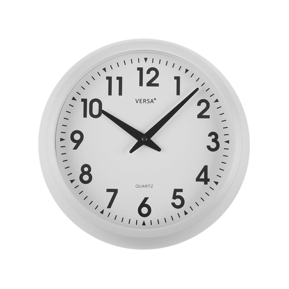 Nástěnné bílé kuchyňské hodiny Versa, ⌀ 30 cm