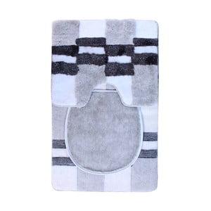 Set předložek Elit + potah na WC prkénko, Grey Black