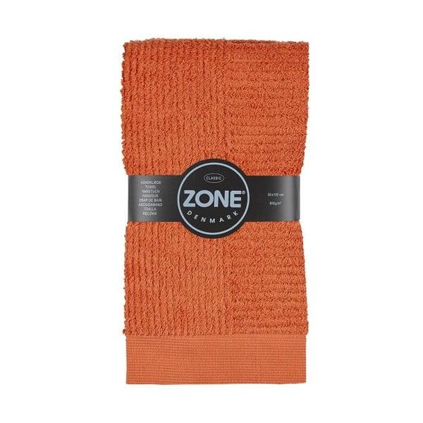 Oranžový ručník Zone 100x50 cm