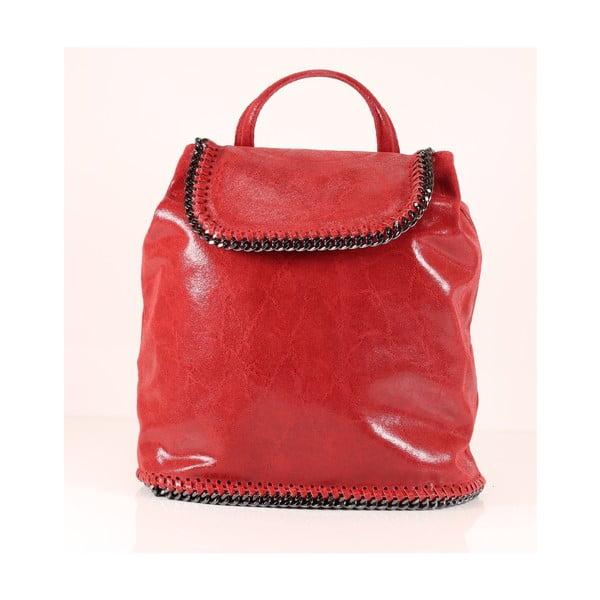 Kožený batůžek Emily, červený