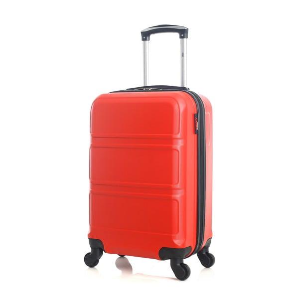 Červený cestovní kufr na kolečkách Hero Utah, 37 l
