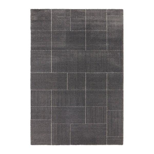 Covor Elle Decor Glow Castres, 120 x 170 cm, gri închis