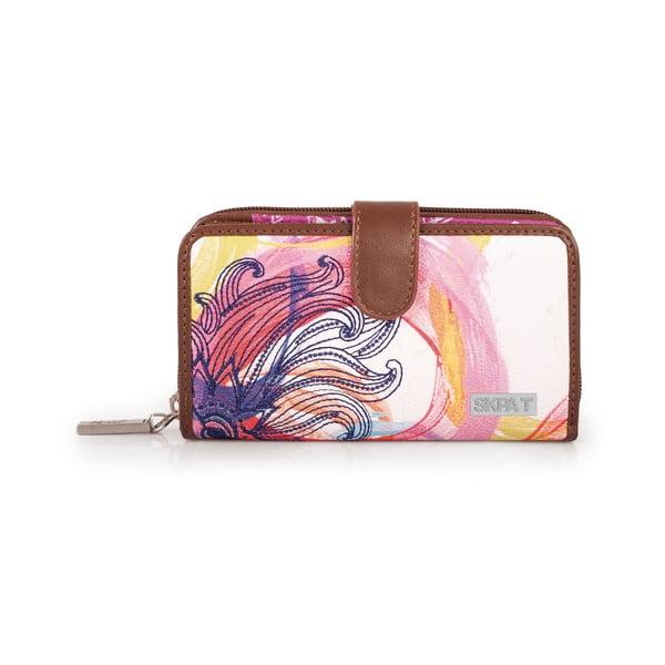 Bílo-růžová peněženka SKPA-T, 16 x 9 cm