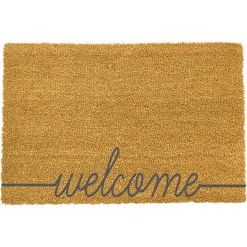 Covoraș intrare Artsy Doormats Welcome Scribbled, 40 x 60 cm, gri imagine