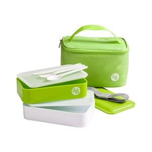 Set zeleného svačinového boxu a tašky Premier Housewares Grub Tub, 21 x 13 cm