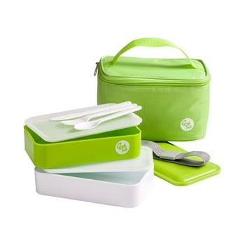 Set husă frigorifică și cutie pentru gustări Premier Housewares Grub Tub, 21 x 13 cm, verde