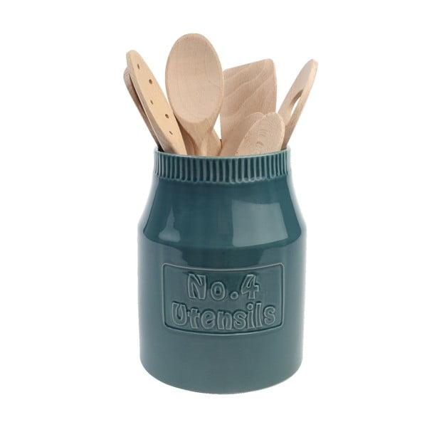 Modrozelený keramický stojan na kuchyňské potřeby T&G Woodware Colour by Numbers