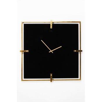 Ceas de perete cu ramă aurie Kare Design Black Mamba, negru de la Kare Design