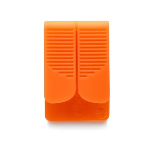 Silikonový obal na čajový sáček, oranžový