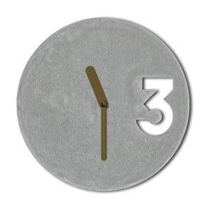 Ceas din beton cu indicatoare aurii Jakub Velinsky
