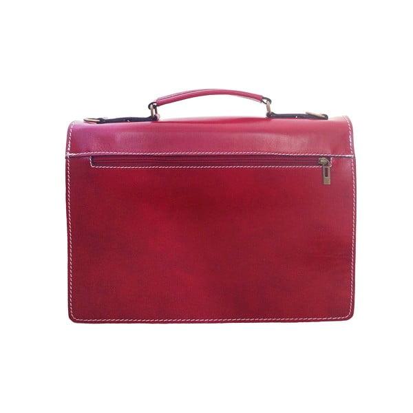 Kožená kabelka/kufřík Lambrusco, červená