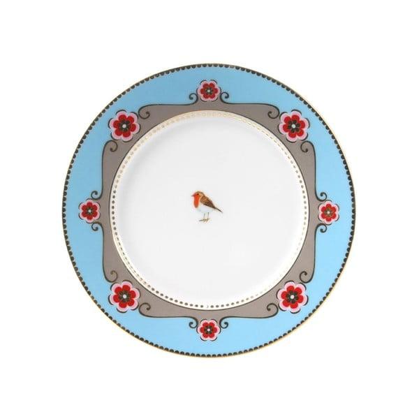 Dezertní talířek Love Birds 17 cm, modrý