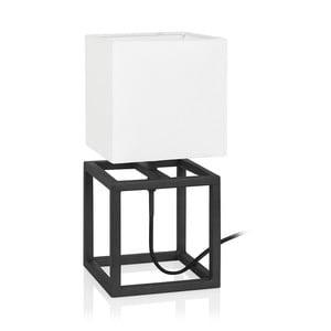 Černo-bílá stolní lampa Markslöjd Cube, 15 x 15 cm